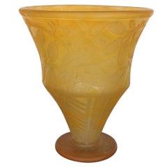 Daum Vase with Floral Pattern, 1930