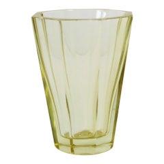 Daum Yellow Crystal Vase