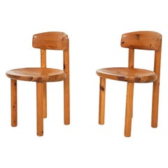 Daumiller Pinewood Dining Chairs inspired by Charlotte Perriand, Denmark, 1960s