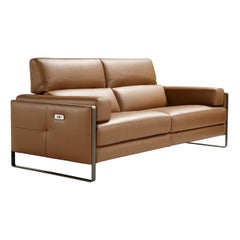 Daunia Brown Leather 2-Seater Sofa