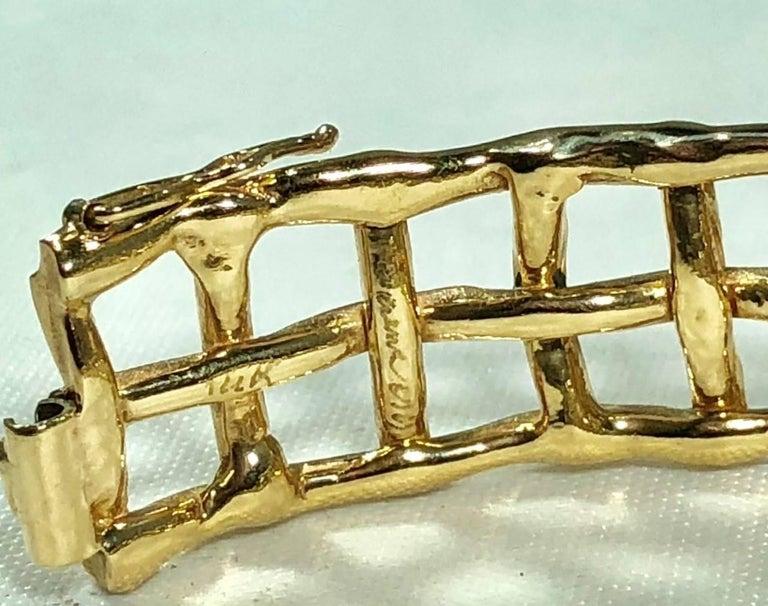 Daunis 14 Karat Yellow Gold Hinged Cuff Bracelet For Sale 8