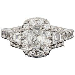 Daussi White Gold 1.99 Carat Oval Diamond Engagement Ring