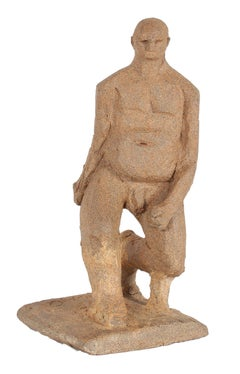 Male Nude in Motion Unglazed Clay 2007