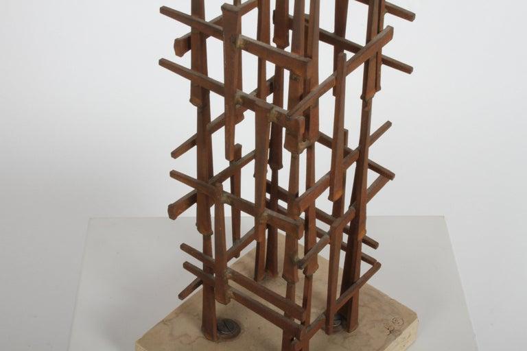 Dave Grossman Brutalist Nail Sculpture, circa 1960s For Sale 3