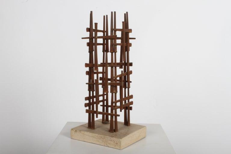 American Dave Grossman Brutalist Nail Sculpture, circa 1960s For Sale