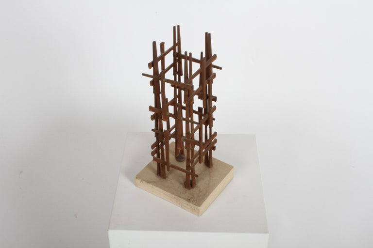 Dave Grossman Brutalist Nail Sculpture, circa 1960s In Good Condition For Sale In St. Louis, MO