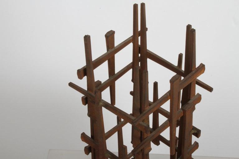 Iron Dave Grossman Brutalist Nail Sculpture, circa 1960s For Sale