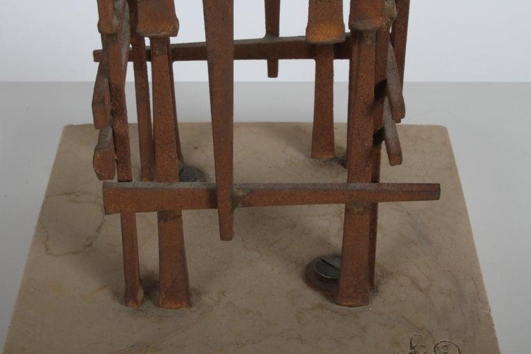 Dave Grossman Brutalist Nail Sculpture, circa 1960s For Sale 1