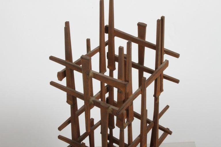 Dave Grossman Brutalist Nail Sculpture, circa 1960s For Sale 2
