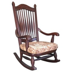 Davenport American Aesthetic Movement Carved Mahogany Armchair