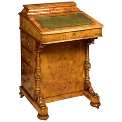 Davenport Desk in Walnut Root, England, 19th Century