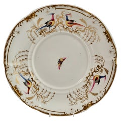Davenport Porcelain Plate / Stand, White with Sèvres Style Birds, 1830-1837
