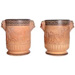 Davenport Pottery Ltd. Terracotta Wine Coolers / Pair