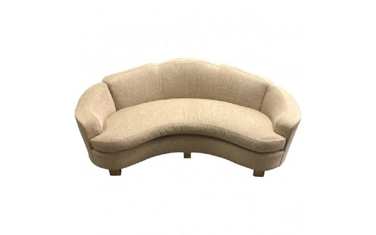 Davenport sofa, handmade in NYC by well known fine upholsterer Jonas. Sofa features a tight back, loose seat cushion of foam wrapped with 80% down and 20% feather.  This sofa is made to order. Price is to fabricate sofa with customer's own