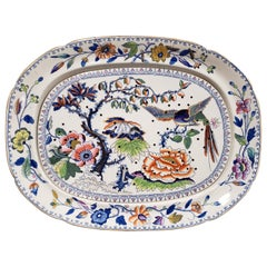 Davenport Stone China Meat Platter with Drain Plate