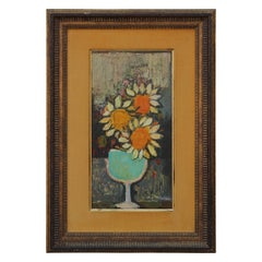 Post-Impressionist Abstract Sunflower Still Life