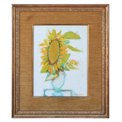 """Sunflower"" Post-Impressionist Abstract Flower Still Life"