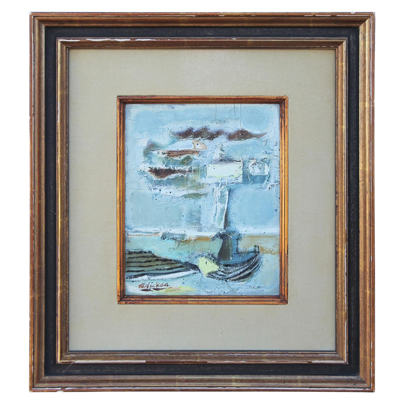 Textured Abstract Impressionist Study for Beach and Boat