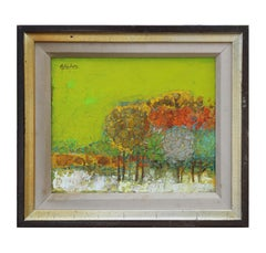 Untitled Post Impressionist Landscape Painting of Trees