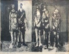 """DES HOMMES""   OF MEN.    HOUSTON TEXAS ARTIST"