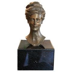 Bronze Portrait Bust of Ima Hogg