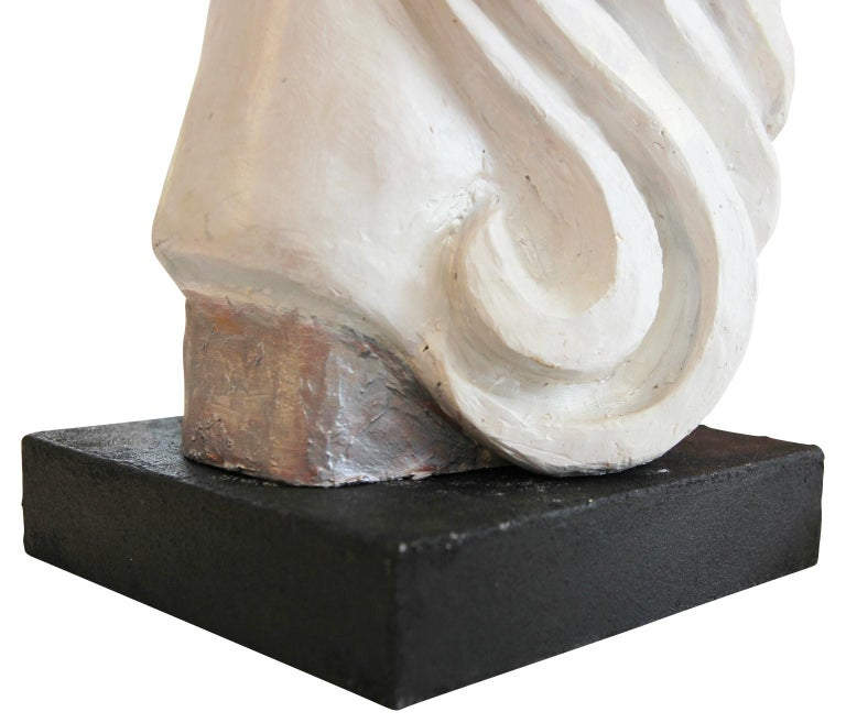 Modern Abstract Cast Stone Female Bust Portrait Sculpture of Julie Burrows For Sale 7