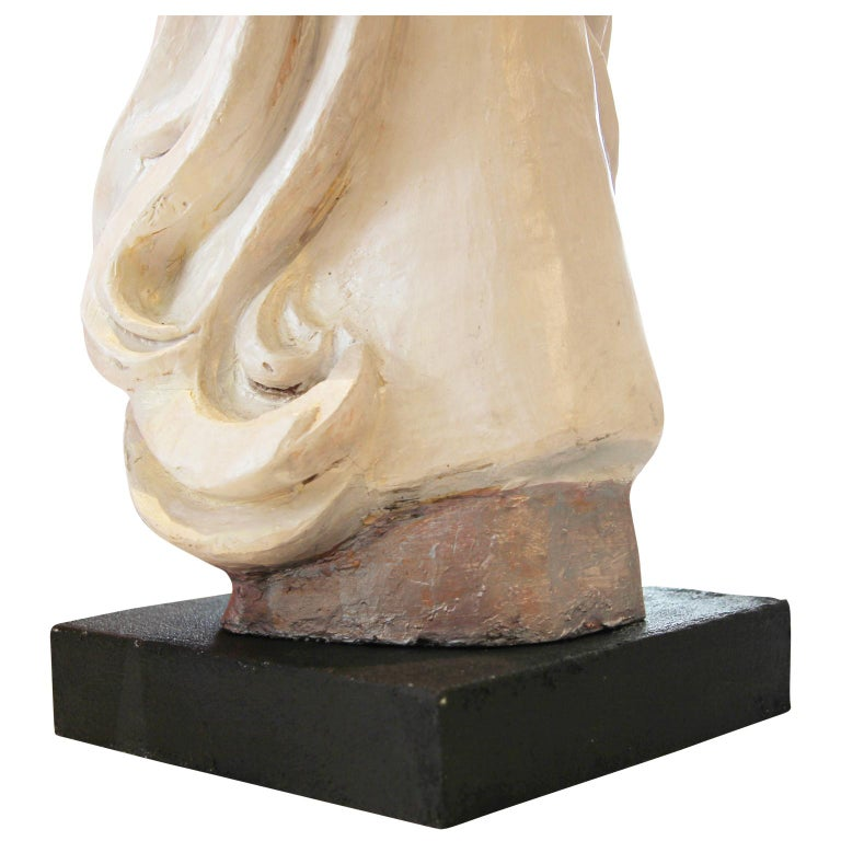 Modern Abstract Cast Stone Female Bust Portrait Sculpture of Julie Burrows For Sale 6
