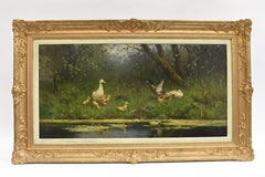 Ducks At The Waterfront Dutch David Constant Artz Impressionist realist.