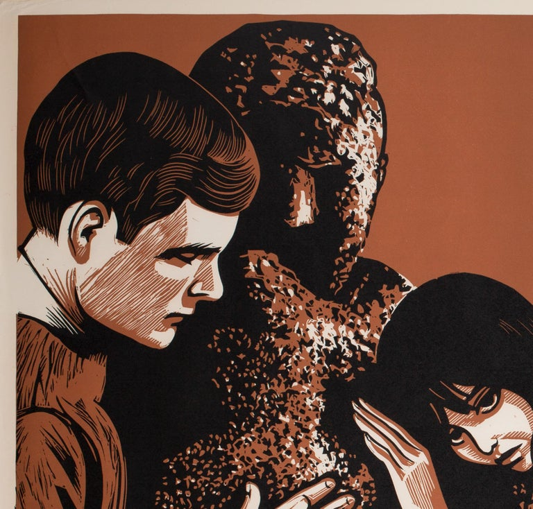 British David and Lisa 1963 Academy Cinema UK Quad Film Poster, Strausfeld For Sale