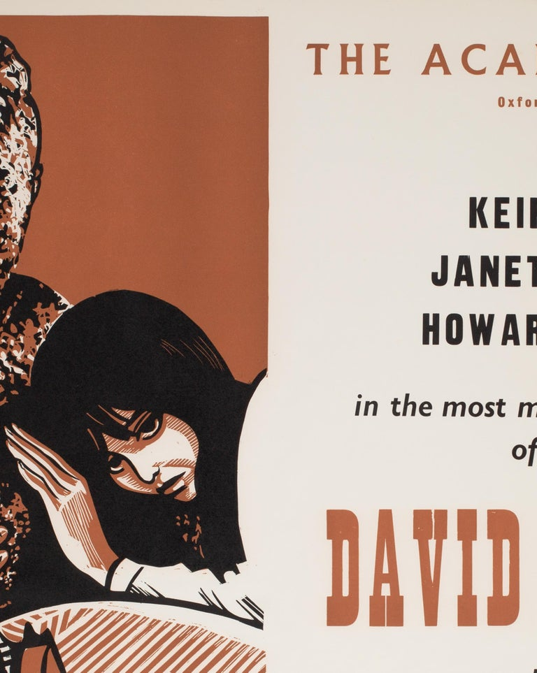 David and Lisa 1963 Academy Cinema UK Quad Film Poster, Strausfeld In Good Condition For Sale In Bath, Somerset