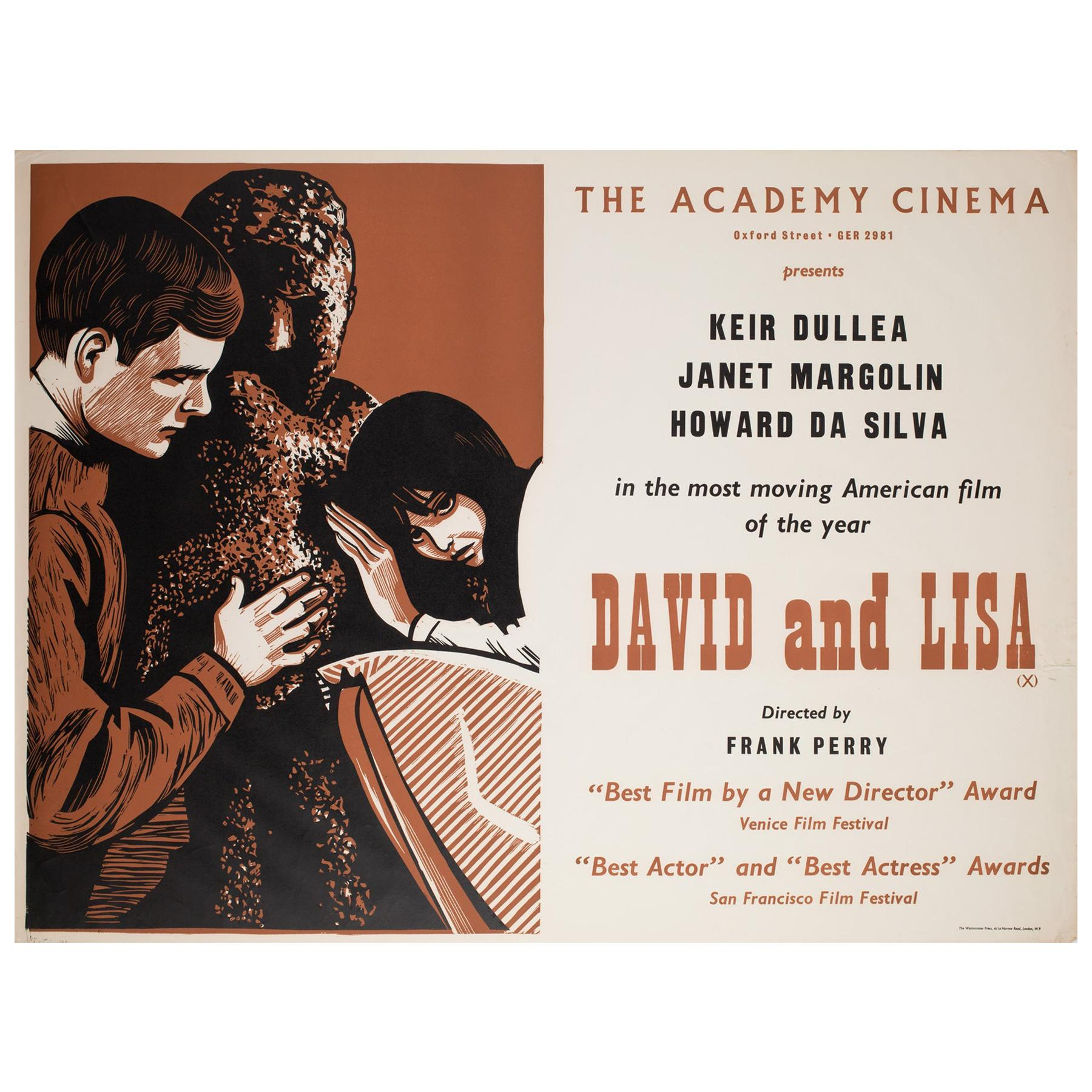 David and Lisa 1963 Academy Cinema UK Quad Film Poster, Strausfeld