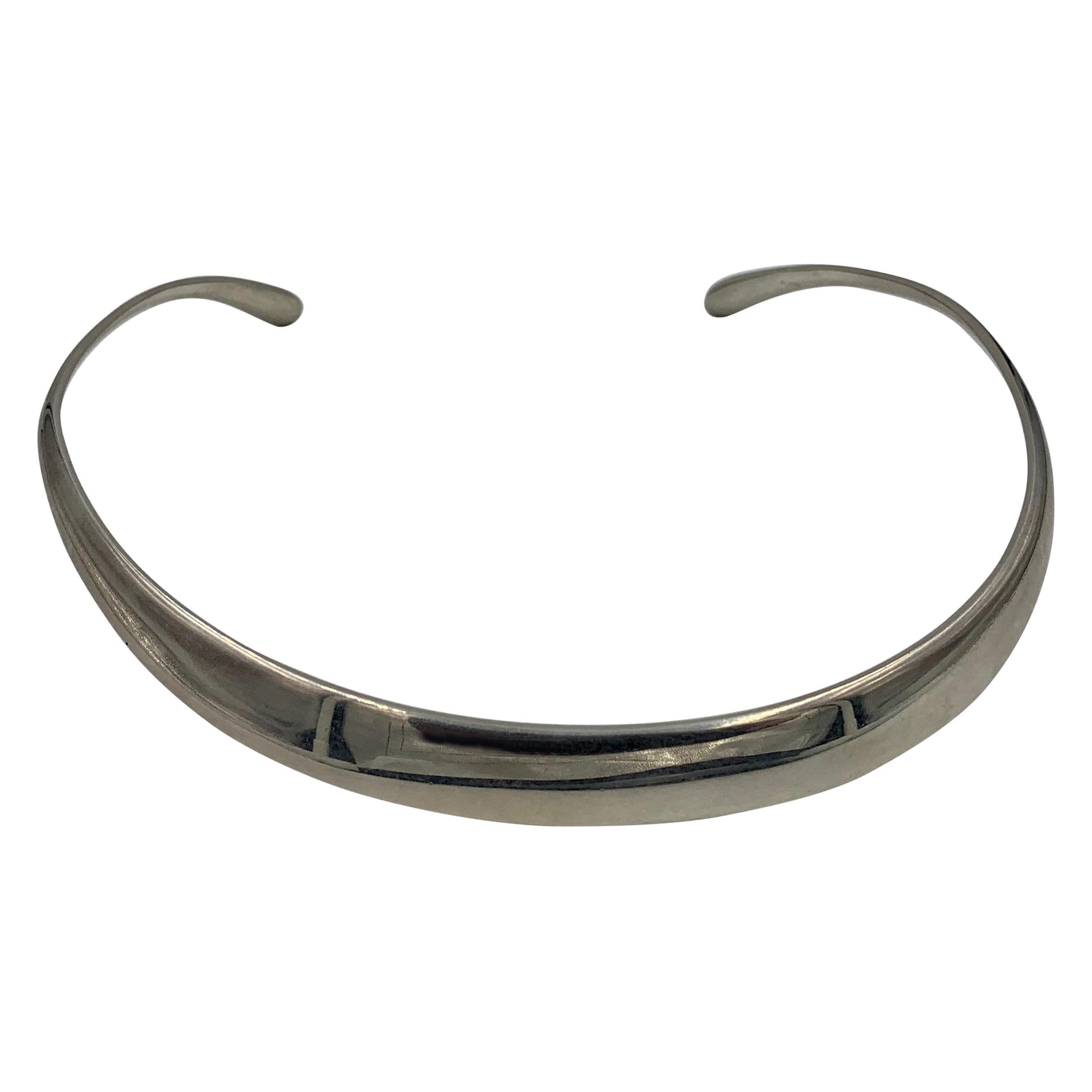 David Andersen Norway Modernist Collar Necklace Sterling Silver Midcentury