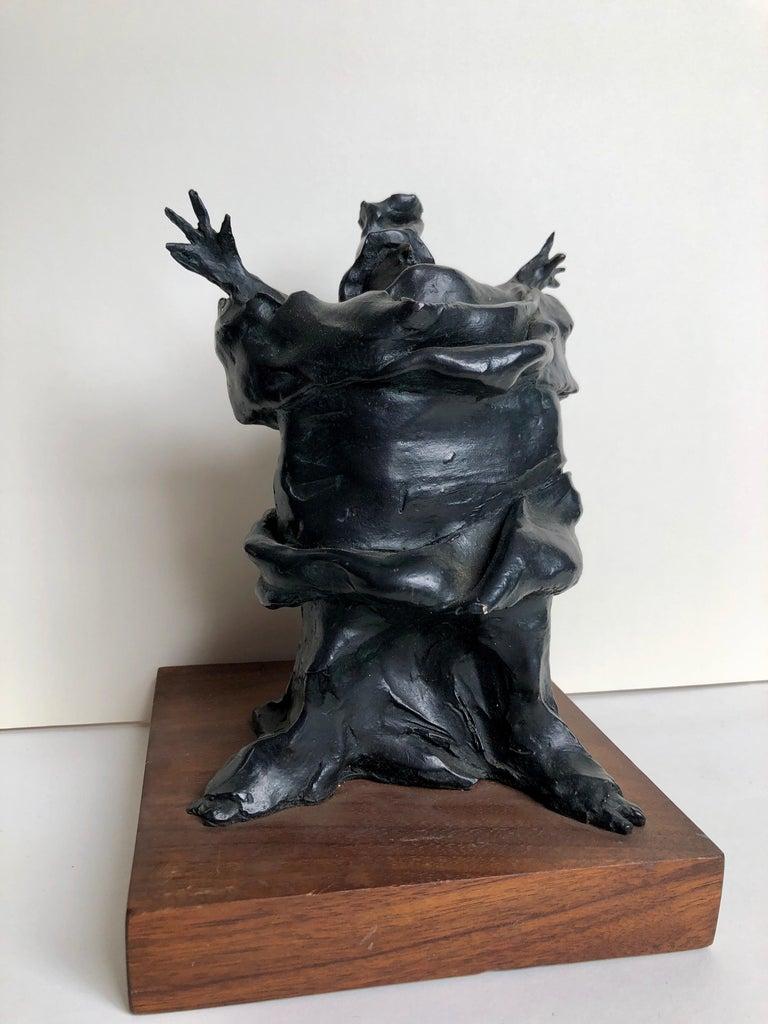 Bronze Sculpture Charles Dickens Figure American Boston Figural Modernist - Brown Figurative Sculpture by David Aronson