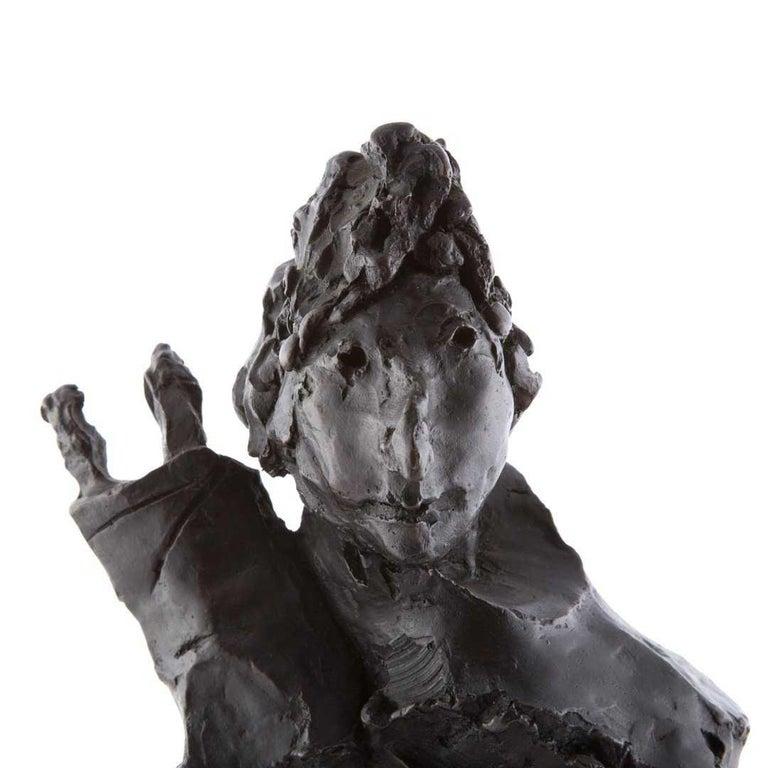 Bronze Sculpture Rabbi w Torah Judaica Figure American Boston Figural Modernist For Sale 1