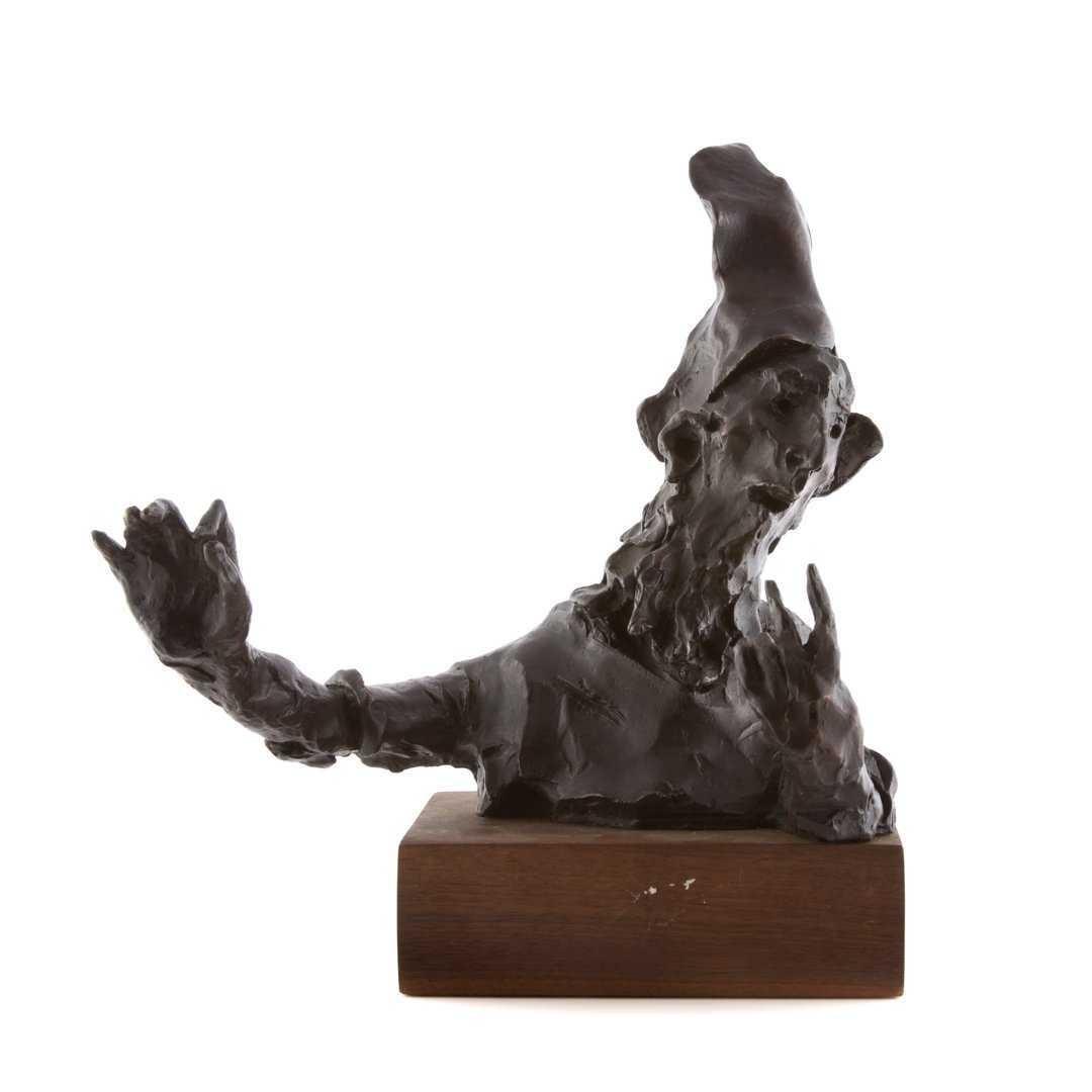 "Large Bronze Sculpture ""Virtuoso"" Figure American Boston Figural Modernist"