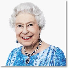 Her Majesty The Queen. Dye sublimation print on Aluminum. Color Photography