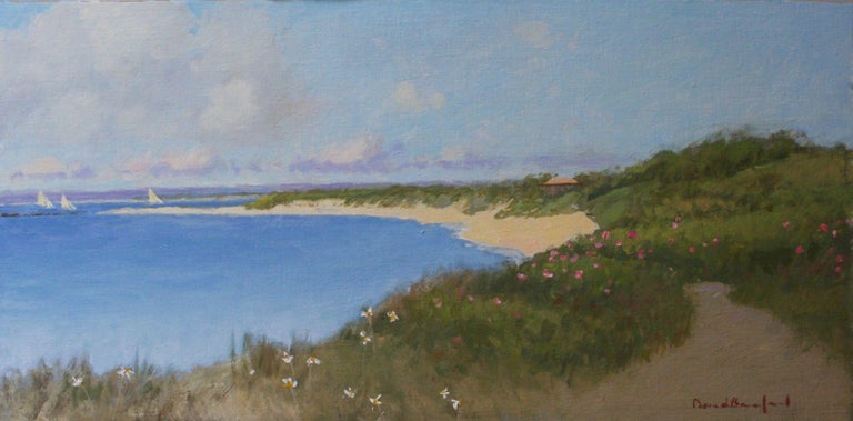 David Bareford Landscape Painting - View to Jetties
