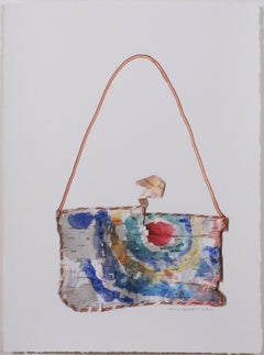 """Birch Bark Medicine Pouch,"" original mixed media work by David Barnett"