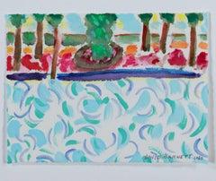 """Famous Artist Series: Homage to David Hockney-TriColor Water,"" by David Barnett"