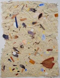"""""""Garden Celebration I,"""" Watercolor on Handmade Paper signed by David Barnett"""