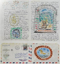 """Homage to Picasso: Letter and Postage Stamp from Nice, France"" by David Barnett"