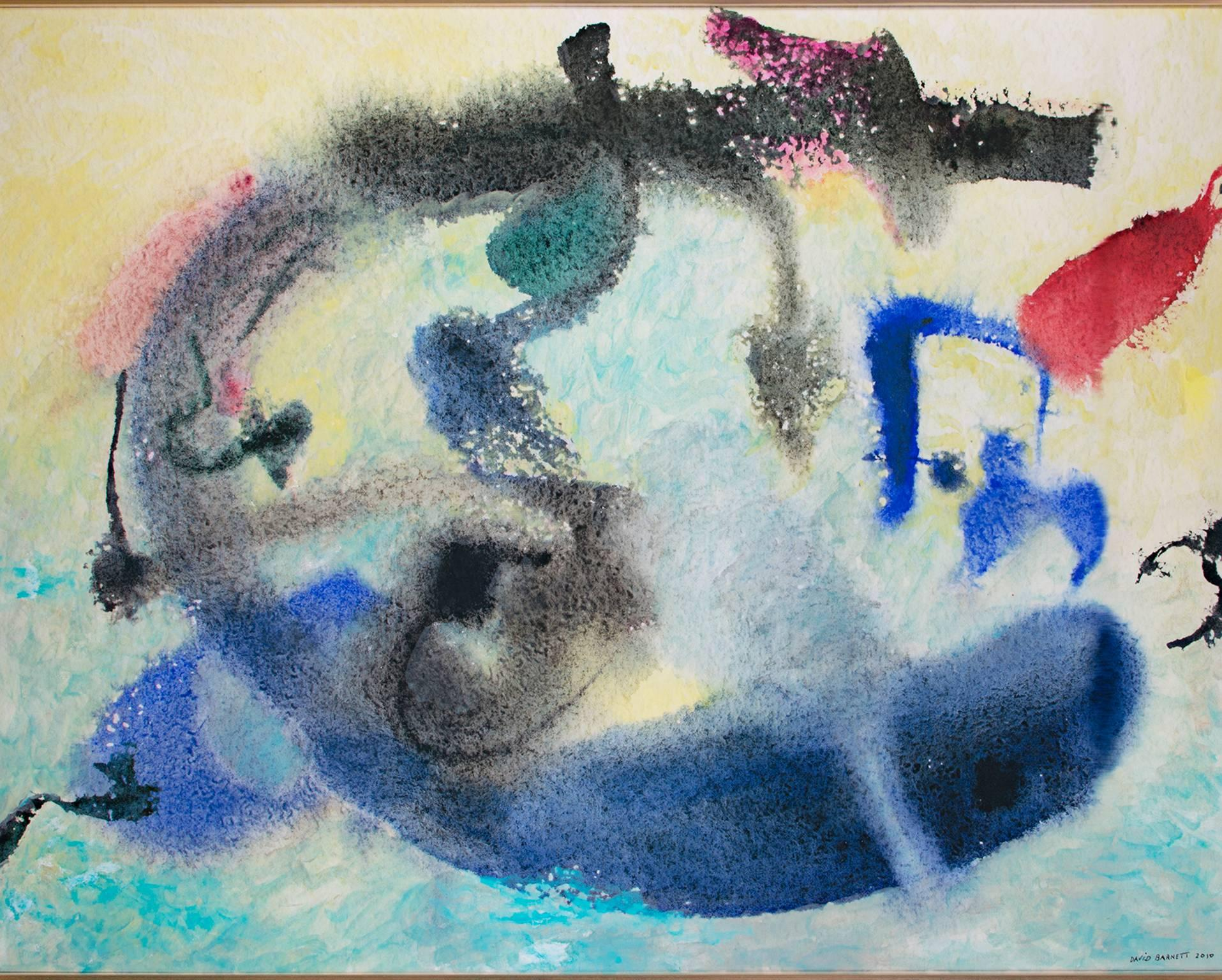 """""""The Blue Whale,"""" Original Mixed Media on Canvas signed by David Barnett"""