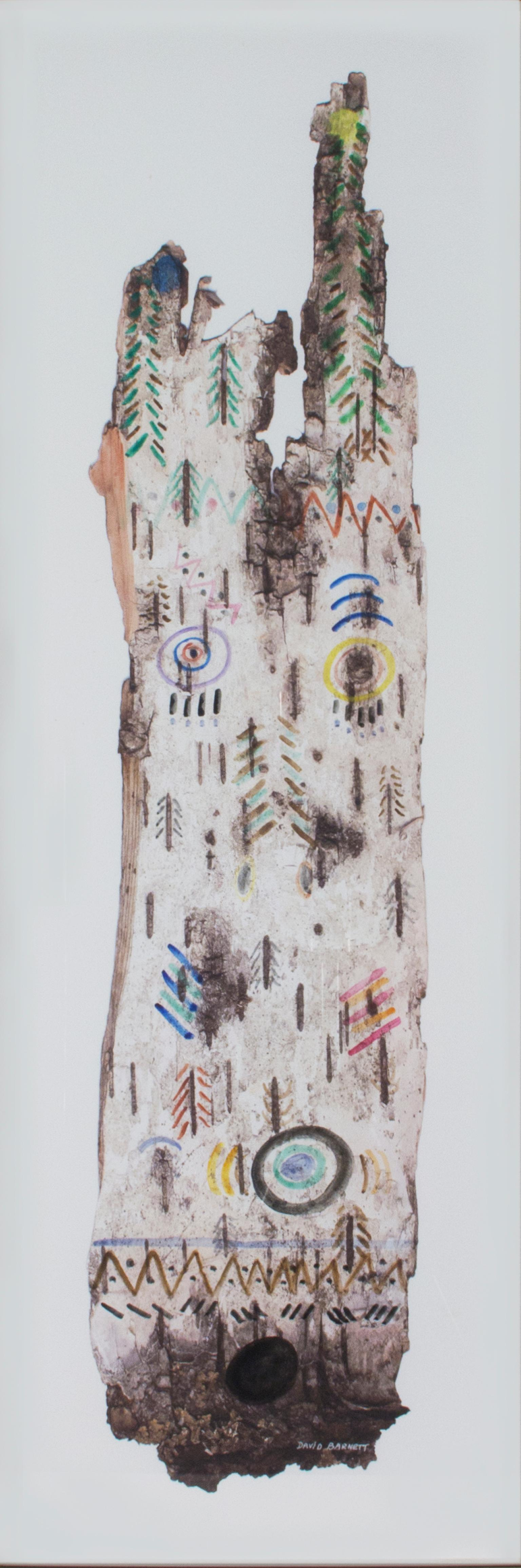 """Up North Birch Bark Series: Tree Spirit Chief,"" Mixed Media by David Barnett"