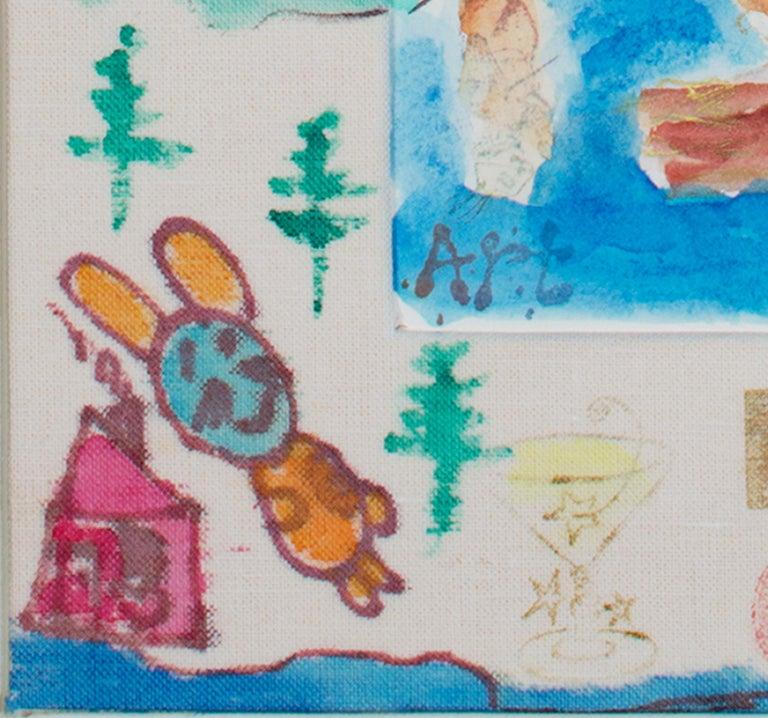 """David Barnett Abstract Drawing - """"Up North Series: Dreaming of Minoqua and Eagle River,"""" by David & Sarah Barnett"""