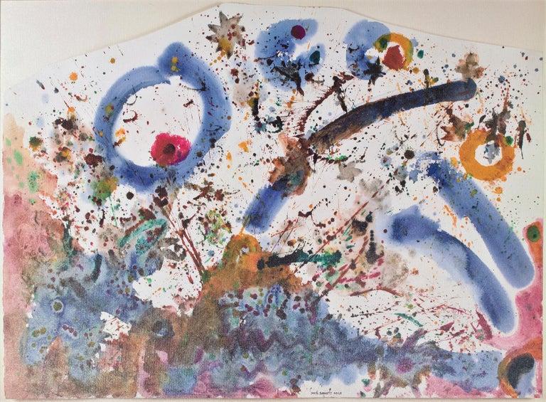 'Venus & Shooting Stars Over the Mountain' original signed mixed media artwork - Art by David Barnett