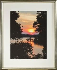 'Beaver Lake Sunrise, Aug. 2016' original signed fine art photograph