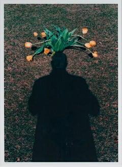 """Self Portrait: Homage to Magritte - Tulip Top Headdress,"" by David Barnett"