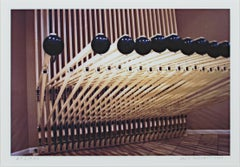 """Steinhafel's Musical Syncopated Rug Rack Sculpture"" photograph by David Barnett"