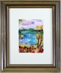 'First Signs of Autumn on Beaver Lake' signed giclee print after 1999 original