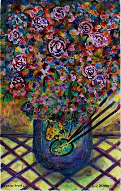 """Homage to March Chagall: Artist's Palette Bouqet,"" art print by David Barnett"